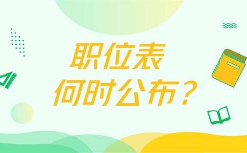 2019年广东省考职位表何时公布?有哪些岗位?